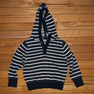 Boys blue and white knit hoody